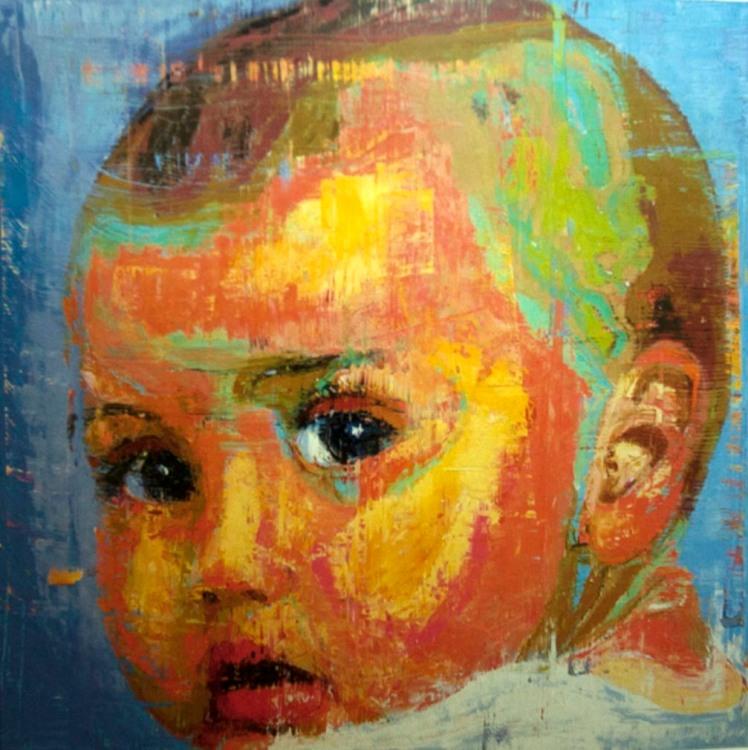 El futuro se vuelve (2014) Oleo sobre lienzo. 200x200 cm