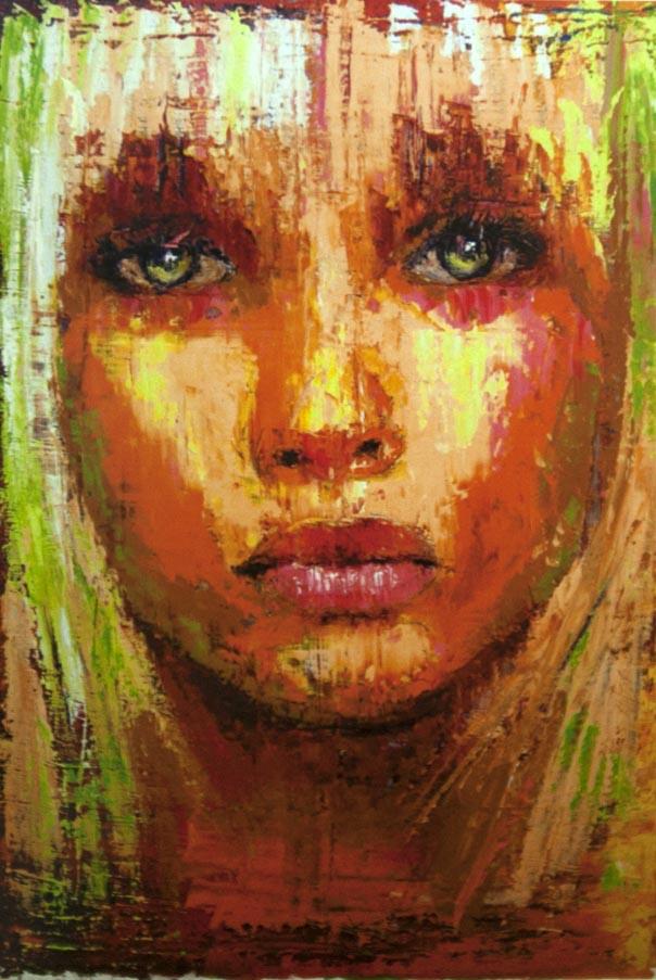 Pelo verde (2015) Oleo sobre lienzo. 138x94 cm