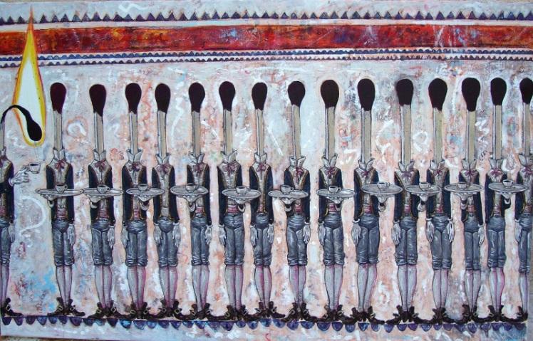 Desobediencia (2014) Oleo sobre tela 80x110 cm