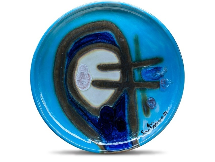 Plato de cerámica esmaltado con pigmentos, óxidos metálicos y vidrios fundidos (2017) 30 cm.jpg