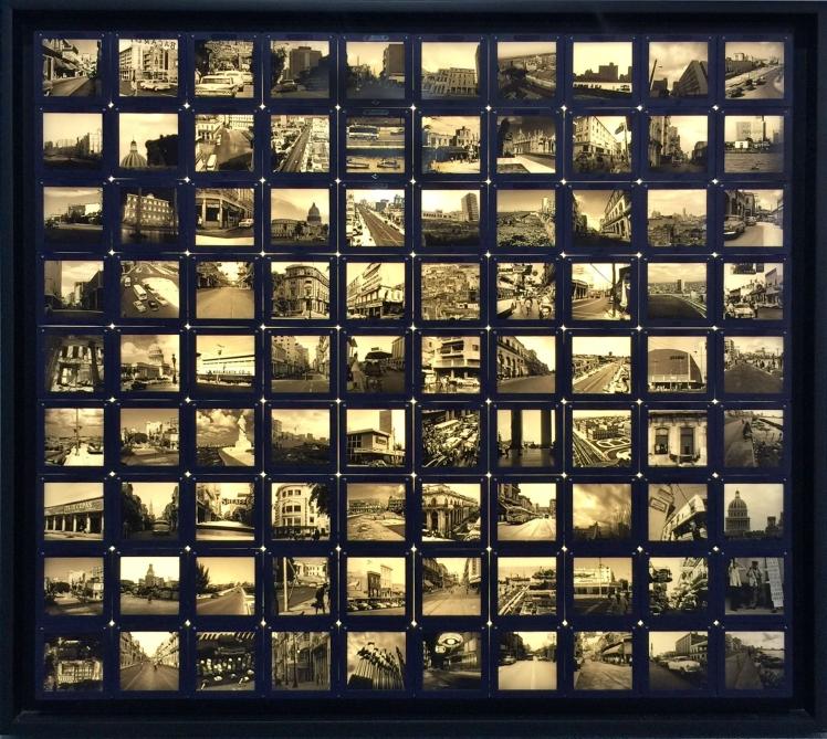 Habana XI (2014) Marcos de diapositivas 6 x 6, impresión digital en backlight, 2014. Dimensiones variables
