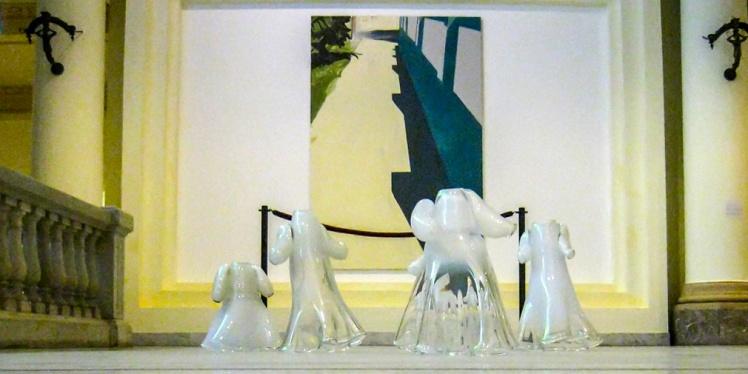 Recordando la instalación de un niño.  Vestidos de bautizo (2000-2012) Lieve Van Stappen